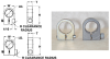 Rectangular 1 End Radius Type C Gear Clamps (inch) -- S3701Y-C112S -- View Larger Image