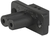 IEC Appliance Outlet D, Screw-on Mounting, Front Side, Solder Terminal -- 5084 -Image