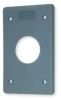 Cover Plate, 1.40 In, 1 Gang,Gray -- 1DJL6 - Image