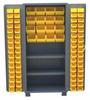 PLASTIC BIN & SHELF CABINET - SOLID DOORS -- HDT236-BL - Image