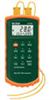 Extech Dual-Input Thermocouple Thermometer with Alarm -- EW-95001-02