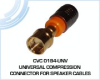 Universal Compression Connector for Speaker Cables -- CVC 0184-UNV