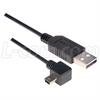 Right Angle USB cable, Straight A Male/ Right Angle Mini B5 Male, 3.0m -- CAA-90RMB5-3M -Image