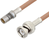 Snap-On BMA Jack to BNC Male Cable 24 Inch Length Using RG400 Coax -- PE3C4964-24 -Image