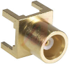 Connector; MCX; 50 Ohms; 0 to 6 GHz; PCMount; 1000 V (RMS) (Min.); Brass; Gold -- 70090551