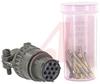 connector,metal circular,str plug w/cable clamp,size 12,10 #20 crimp socket cont -- 70143478
