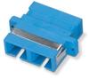 Fiber Optic Coupling, SC-SC, Rectangular Mounting, Multimode, Duplex, Bronze Sleeve, Plastic Flange -- FOT118