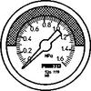 Pressure gauge -- MA-50-1,6-R1/4-MPA-E-RG -Image