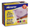 Memorex Slim CD Jewel Cases (Color, 10 Pack) -- 32021911