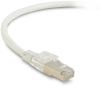 10FT White CAT6A 650MHz Patch Cable F/UTP CM Locking Snagless -- C6APC80S-WH-10 - Image