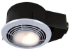 Ceiling Mount Fan Driven Heater and Ventilator and Light -- QT9093WH
