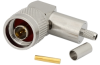 N Type Plug Right Angle 50 Ohm Coax Connector Crimp Attachment for RG55, RG141, RG142, RG223, RG400 -- MTCN0021 - Image