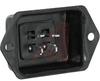 connector,jones plug,deep bracket,solder eyelets,polarized,4 contact -- 70033105