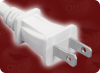 NEMA 1-15P POLARIZED WHITE to SPLIT HOME • Power Cords • North American Power Cords • 2 Conductor Power Cords -- 1071.072S - Image