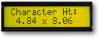 LCD Character Display Module -- ASI-G-162AS-LJ-CYS/W