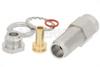 1.85mm Female Bulkhead Mount Connector Clamp/Solder Attachment for PE-SR405AL, PE-SR405FL, PE-SR405FLJ, PE-SR405TN, RG405, .252 inch D Hole -- PE44802 -Image