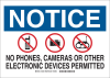 Brady B-555 Aluminum Rectangle White Electronics Sign - 14 in Width x 10 in Height - 132042 -- 754473-83093