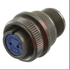 connector,metal circ,str plug,size 18,1#12 solder pin contact,black finish -- 70110429
