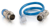 1ft RapidRun® Multimedia Runner Cable (Blue) Test Adapter Cable -- 2212-42119-001 - Image