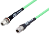 N Female to N Female Bulkhead Low Loss Test Cable 12 Inch Length Using PE-P300LL Coax -- PE3C3247-12 -Image