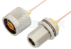 N Male to N Female Bulkhead Cable 60 Inch Length Using PE-047SR Coax -- PE34152-60 -Image