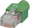 RJ 45 CONNECTOR, SHIELDED, WITH BEND PROTECTION SLEEVE,gray for straight cables -- 70207872