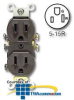 Leviton Duplex Receptacle, Self-Grounding (Package of 10) -- 5320-S