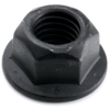 7/16-14 Gr. G Flange Nut, Top Lock, Black Phosphate -- NTGFLN03514BP - Image