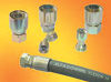 AlfaCrimp One-Piece Fittings - C126 - 45° ORFS Female for Ultra High Pressure Hoses, Solid Bent tube, Crimped Nut -- View Larger Image