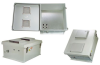18x16x08 Fiberglass Reinf Polyester FRP Weatherproof Outdoor IP24 NEMA 3R Enclosure, PoE MNT PLT Vented Lid Gray -- TEF181608-40V -Image