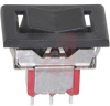 Switch, Rocker, Snap-In, Solder Lug Teminals, Silver Contacts, Blk Actuator -- 70128173 - Image