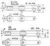 Part # 11190, US90R CHAIN - PLAIN - Image