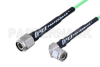 TNC Male to TNC Male Right Angle Low Loss Cable 12 Inch Length Using PE-P160LL Coax -- PE3C5252-12 -Image