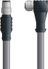 LAPP UNITRONIC® Devicenet™ Thin Extension Cordset (M12's) - 5 positions male M12 straight to 5 positions female M12 90° - Stationary - Gray PVC - 2m -- OLFDN4110024S02 -Image