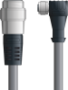 LAPP UNITRONIC® Devicenet™ Thin Extension Cordset - 5 positions male 7/8 inch straight to 5 positions female M12 90° - Continuous Flex - Gray PVC - 2m -- OLFDN4110028F02 -Image