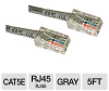 Cables To Go 5ft Cat5e Crossover Patch Cable - Grey -- 24498