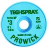 Techspray Pro Wick #3 Green Rosin Flux Coating Desoldering Braid 1810-5F - 5 ft Length - 0.075 in Diameter - Rosin Flux Core -- 1810-5F