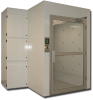 Air Shower - Side Mounted Blower -- AS667-ST-PLC-NF-SM