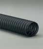 Single-Ply Black Neoprene Coated Polyester Fabric Hose -- Flexaust® CW-162 10