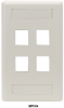 12-Port Office White Double-Gang Keystone Wallplate -- WPT492 - Image