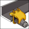 Beam/Purlin Electrical Fixings, Fasteners and Supports -- CADDY® Pipe-To-Beam Clamps