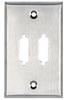 2-Port DB15 Single-Gang Stainless Steel Wallplate -- WP081 - Image