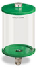 """Green Color Key, Clear View Oil Reservoir, 1/2 gal Pyrex, 1/8"""" Female NPT Outlet, 5/8-18 Thread for Remote Mounting -- B5166-064PBRGW -- View Larger Image"""