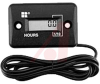 Meter, Hour; LCD; 32 to 277 VAC; Panel Mount; 1.46 in. L x 0.95 in. W; Black -- 70115522