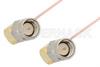 SMA Male Right Angle to SMA Male Right Angle Cable 24 Inch Length Using PE-034SR Coax -- PE34219-24 -Image