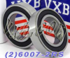 2 Bearing 6007-2RS 35x62x14 Sealed -- Kit481