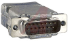 connector,d-sub kit,15 contact crimp plug w/contacts and shielded metal hood -- 70172316