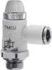 Composite Right Angle Flow Control Valve -- TMCU 978 1/2-10 -- View Larger Image