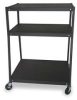 Cart,3 Shelves,Black -- 1DNP2 - Image