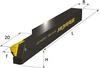 Type K Radial Left Hand Tool Holder with Centerlock Screw and Insert in Center -- WSK